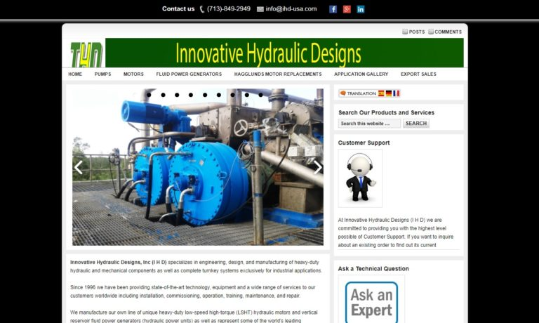 Innovative Hydraulic Designs (IHD)